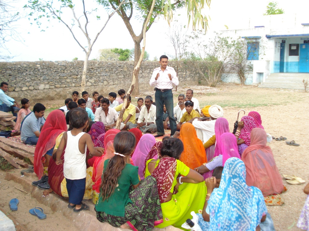 A Gram Shiksha Sabha in action