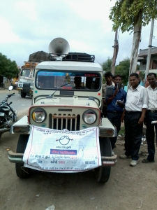 An Educate Girls van ready to recruit Team Balika members