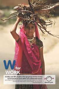 W for Work Child Bride Poster