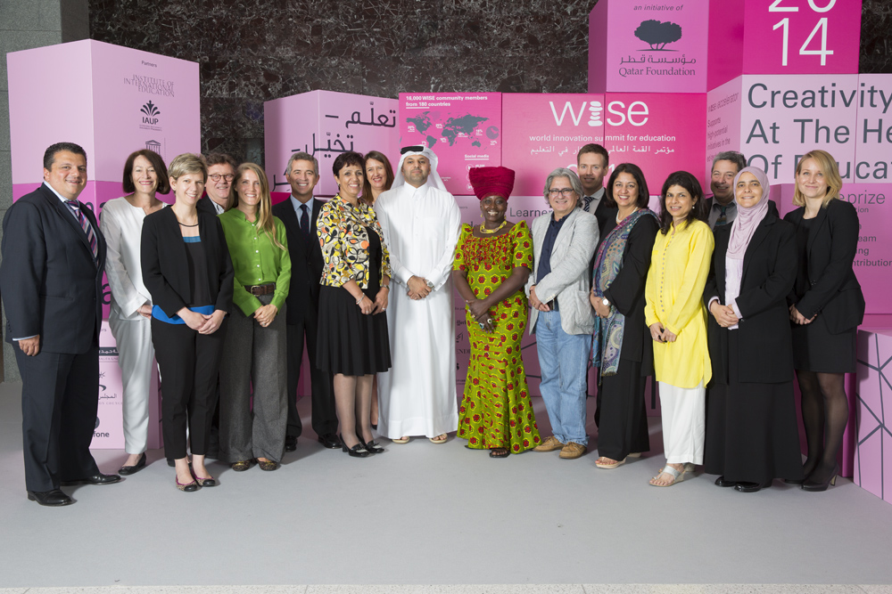 WISE Summit 2015 Group Shot with Safeena Husain from Educate Girls
